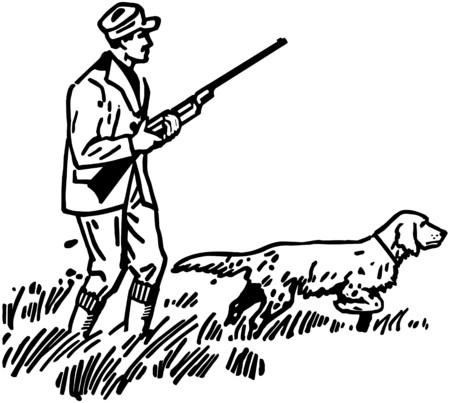 Hunter With Hound