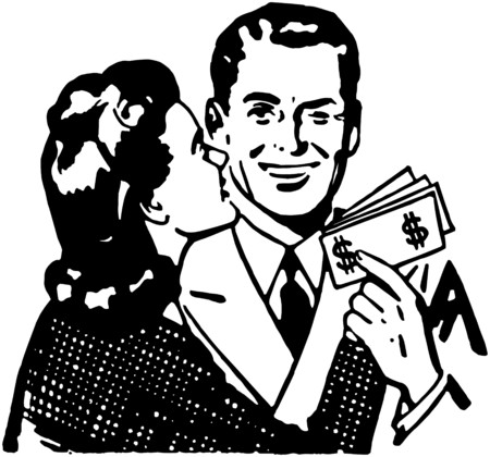 wealthy man: Increased Earnings Illustration