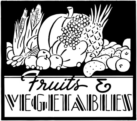 Fruits And Vegetables 2 Stock Illustratie