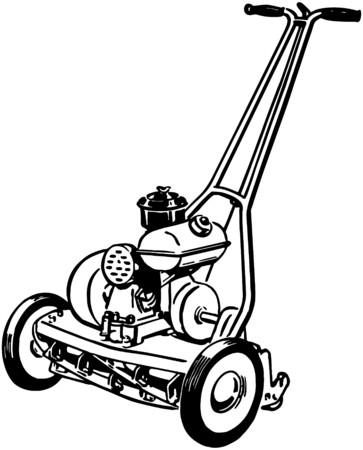 Gas Lawn Mower Vector