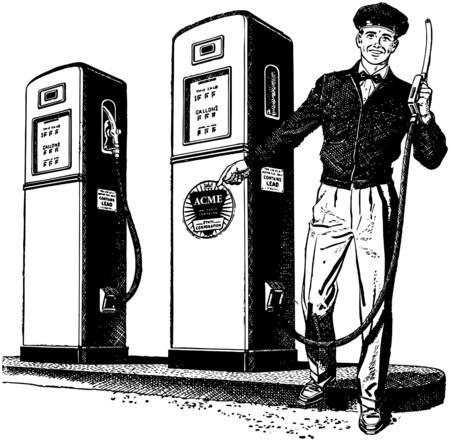 bomba de gasolina: Encargado de la gasolinera 2