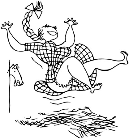 hay bales: Girl Jumping In Hay