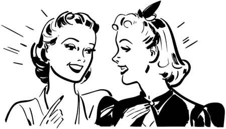 gossiping: Girl Talk Illustration
