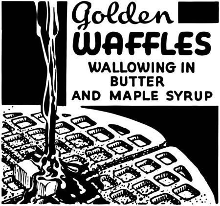 Golden Waffles Banco de Imagens - 28337542