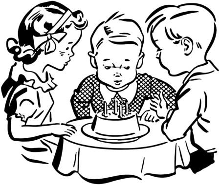 Kids Birthday Party Illustration