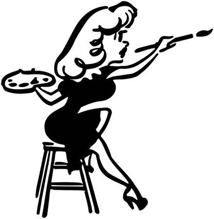 Lady Artist Vector