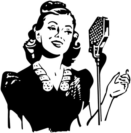 record player: Lady Singer Illustration
