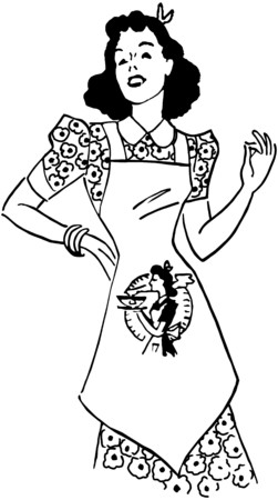 homemakers: Lady With Apron Illustration