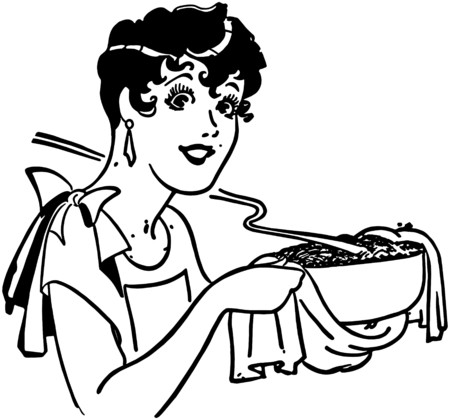 dinners: Lady With Casserole