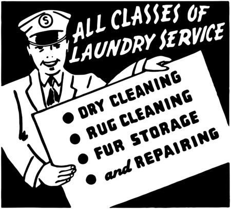 dry cleaner: Laundry Service Illustration