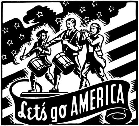 Lets Go America Vector
