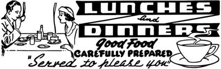 Almuerzos y cenas Vectores
