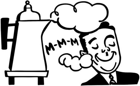 smelling: Man Smelling Fresh Coffee