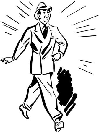 lapels: Man Wearing Clean Suit