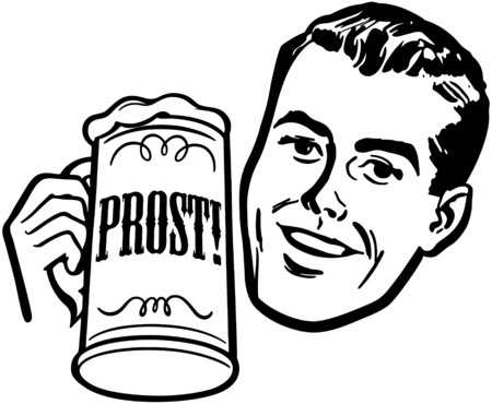ビール ジョッキを持つ男  イラスト・ベクター素材