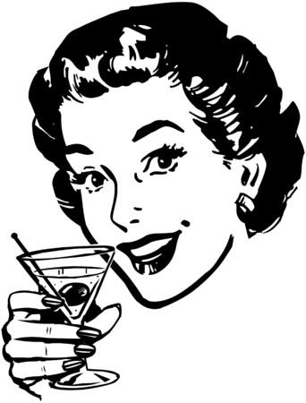 delighted: Martini Toast Illustration