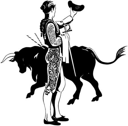 bullfighters: Matador With Bull