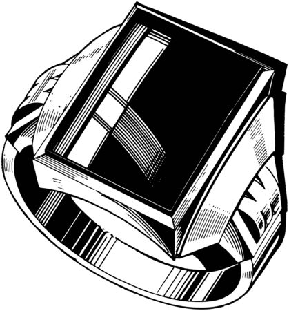 mens: Mens Black Diamond Ring