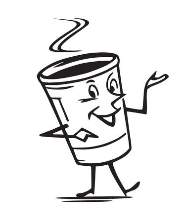 mister: Mister Coffee Illustration