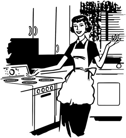 homemakers: Modern Housewife Illustration