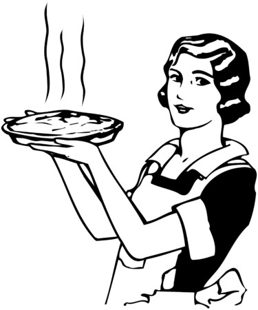retro woman: Moms Apple Pie