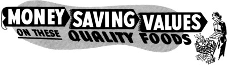 grocers: Money Saving Values Illustration