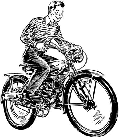 motorized bicycle: Motorized Bicycle Illustration