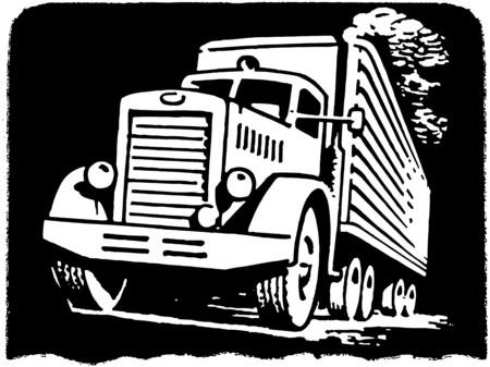 retro truck: Moving Van Illustration