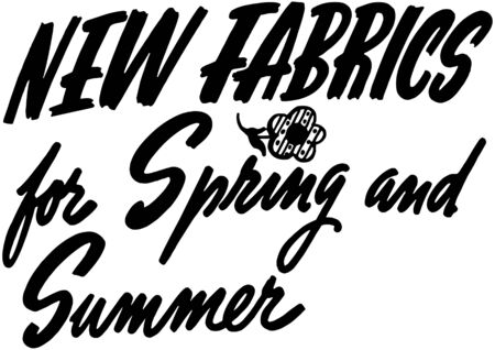 headings: New Fabrics For Spring And Summer Illustration