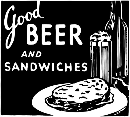 Good Beer And Sandwiches 2 矢量图像