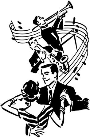 Goede muziek en dans Stock Illustratie