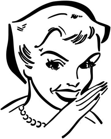 gals: Gossiping Lady Illustration