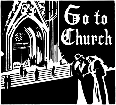 Go To Church Illustration