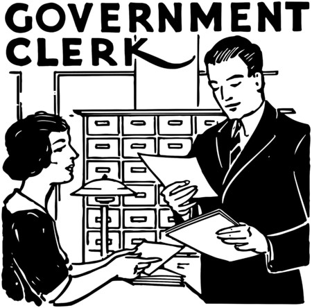 Government Clerk Vector