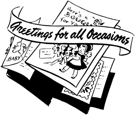 headings: Greetings For All Occasions Illustration