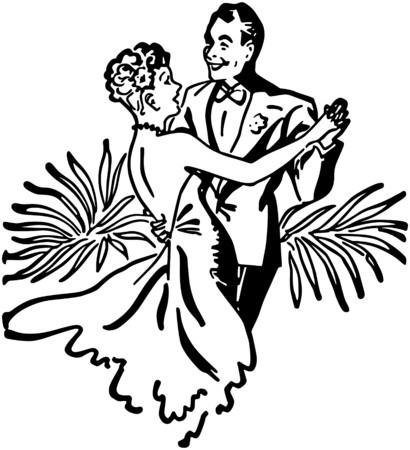 galas: Nightclub Dance Couple Illustration