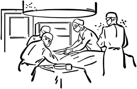 healers: Operating Room Illustration