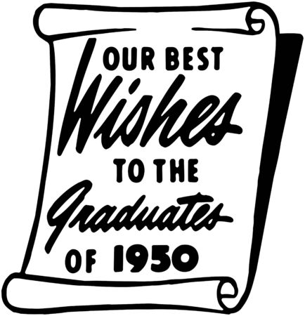 headings: Our Best Wishes To The Grad Illustration