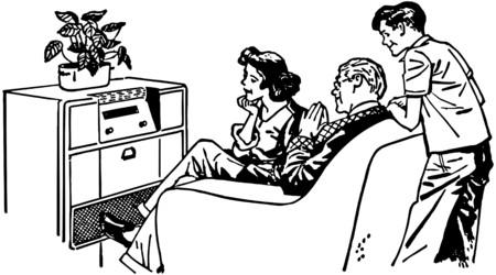 Onze favoriete Radio Show Stock Illustratie