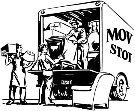 11 685 moving van stock illustrations cliparts and royalty free rh 123rf com Moving Truck Clip Art free moving van clipart
