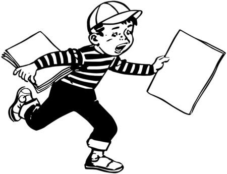 Paper Boy 向量圖像