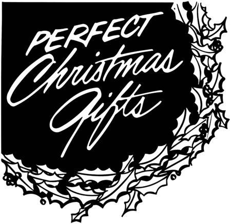 coronas de navidad: Regalos perfectos de Navidad Vectores