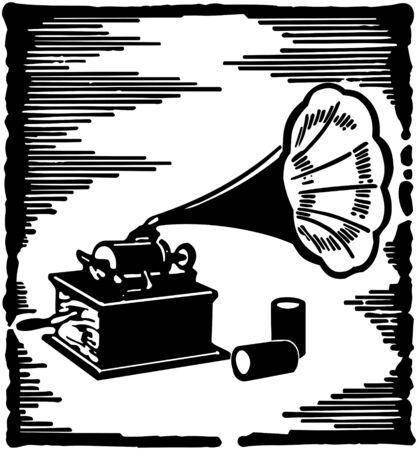 Phonograph Stock Illustratie