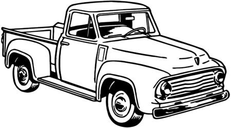Pickup Truck 2 Vector
