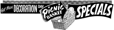 headings: Picnic Basket Specials Illustration