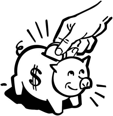 spendthrift: Piggy Bank Illustration