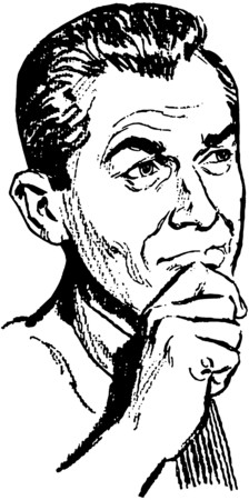 Pondering Man Ilustração
