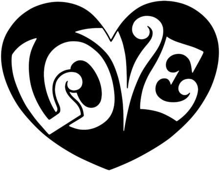 Pop Art Love Heart Vector