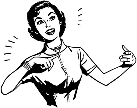 saleswoman: Presentation Lady