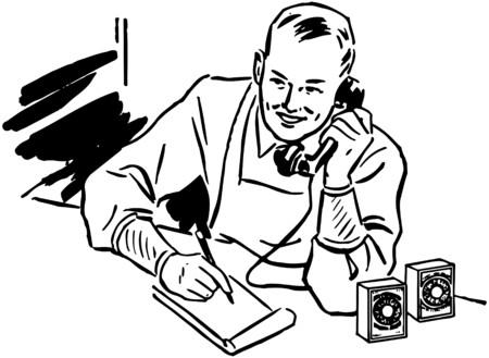 Grocer Taking Phone Order